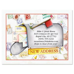 Keep in Touch Mailbox New Address Postcards