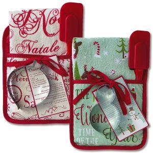 Holiday Pocket Oven Mitt Sets