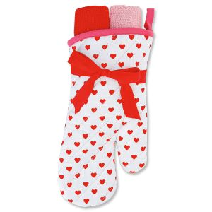 Heart Oven Mitt Set