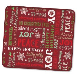 Holiday Greetings Microfiber Drying Mat