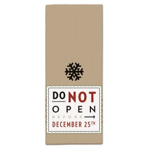 Do Not Open Retro Christmas Kitchen Towel
