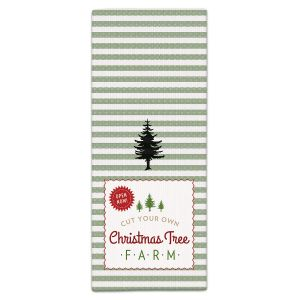 Tree Farm Retro Christmas Kitchen Towel