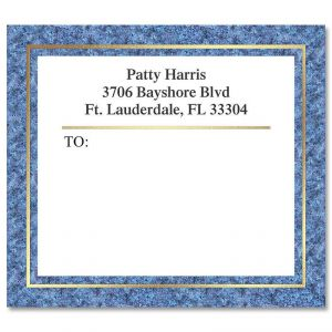 Blue Granite Foil Package Label