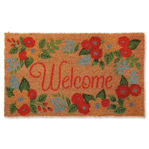 Floral Coir Welcome Doormat
