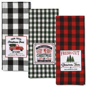 Plaid Holiday Towels
