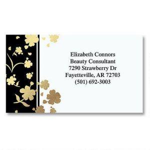 Gold Floral Elegance Foil Calling Cards
