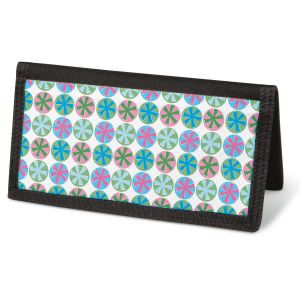 Retro Patterns  Checkbook Cover - Non-Personalized