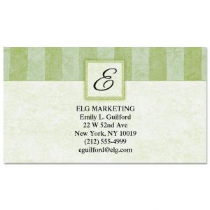 Personalized calling cards business cards current catalog tailored elegance initial business cards colourmoves Image collections