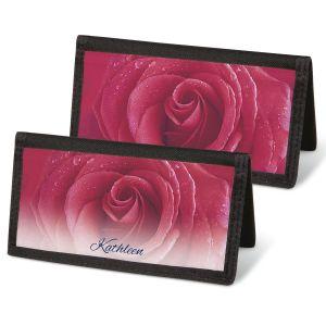 Fresh Roses  Checkbook Covers