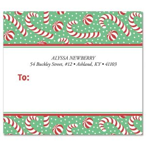Jolly Candy Canes Package Label