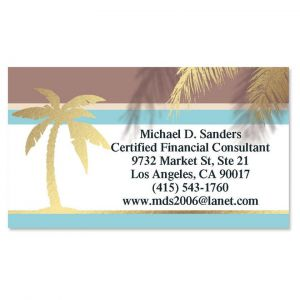 Golden Palm Foil Calling Card