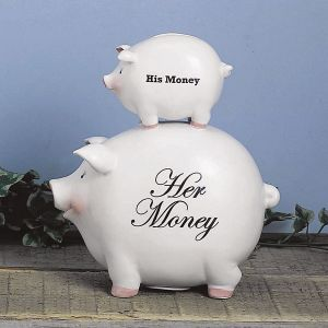 His Money Her Money Piggy Bank