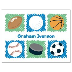 Personalized Sports Note Cards