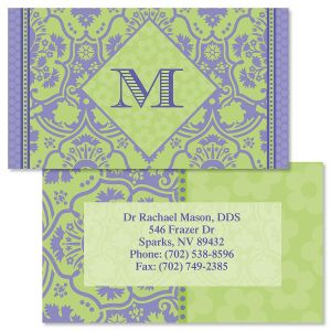 Damask Double-Sided Business Cards