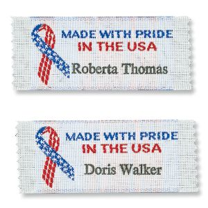Made With Pride In The USA Sewing Label