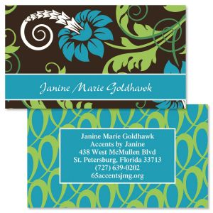 Razzle Dazzle Two-Sided Calling Card