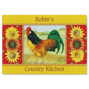 Rooster  Personalized Cutting Board