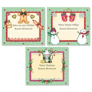 Christmas Spice Personalized Canning Labels  (3 Designs)