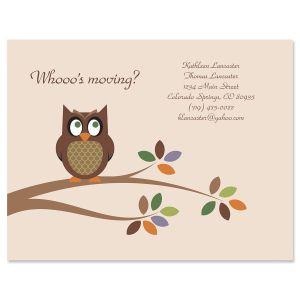 Owl We've Moved Postcards
