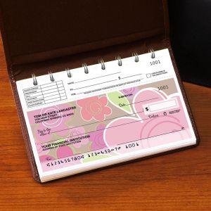 Shades of Pink Top-Stub Checks