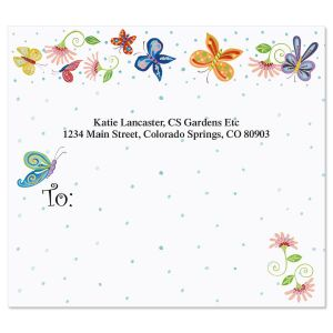 Floral Butterflies Package Labels