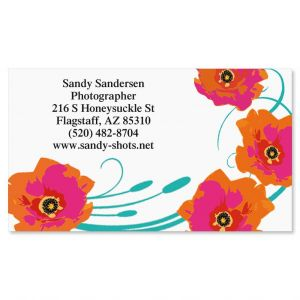Blood Orange Poppy Standard Calling Card