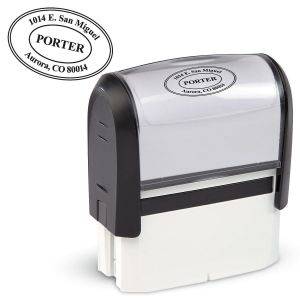 Oval Self-Inking Address Stamper