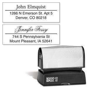 Accent Line Pre-Inking Address Stamp