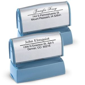 Accent Line Pre-Inking Address Stamper