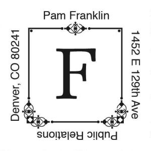 Executive Square Self-Inking Address Stamp