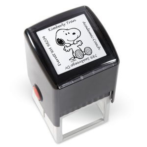 PEANUTS® Square Self-Inking Address Stamp