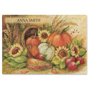 Plentiful Harvest Personalized  Cutting Board