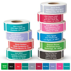 Solid Color Designer Rolled Address Labels Roll Of 500