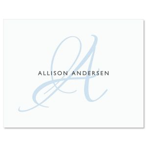 simply initial personalized note cards - Note Cards