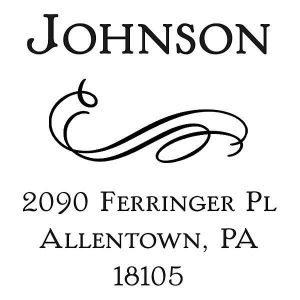 Filigree Square Self-Inking Address Stamp