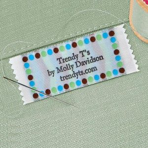Trendy Dots Sewing Label