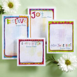 Sprouted Wisdom Personalized Memo Pad Set