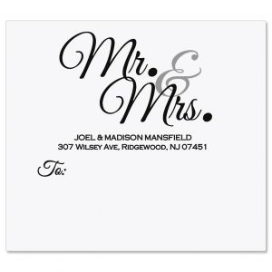 Mr & Mrs Package Labels