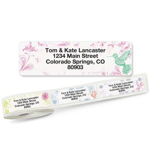 Flower Garden Rolled Address Labels  (5 Designs)