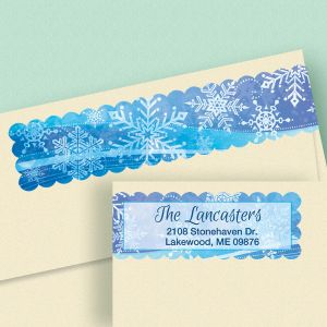 Snowflake Connect Wrap Around Diecut Address Labels