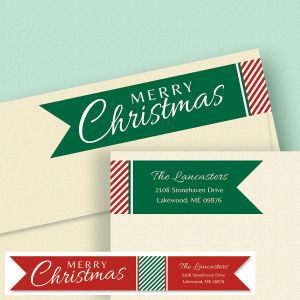 Holiday Wrap Around Address Labels