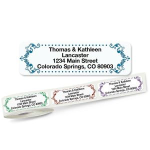 Flourish Rolled Address Labels  (5 Designs)