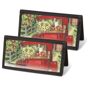 Red Truck Checkbook Covers