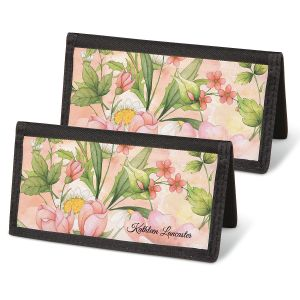Watercolor Garden  Checkbook Covers