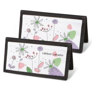 Sketched Flowers  Checkbook Covers
