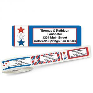 Patriotic Rolled Address Labels  (5 Designs)