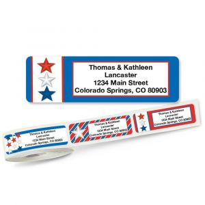 Patriotic Rolled Address Labels  (5 Designs)