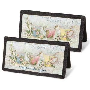 Teacups Checkbook Covers