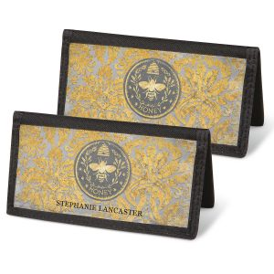 Honey Bee Checkbook Covers