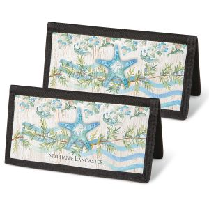 Ocean Tide Checkbook Covers